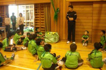 練習試合の合間のミーテンング