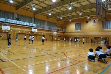 児童クラブチームと練習